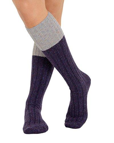 Ribbed Boot Socks Wool Silk Cashmere Blend Womens Knee Hi 4 Color Options Color: (Cashmere Silk Blend)