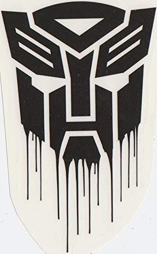 5 Inch Autobot Logo Decal Emblem Symbol Badge Insignia Transformers Robots Removable Peel Self Stick Adhesive Vinyl Decoration Wall Sticker Art Kids Room Home Decor Boy 3 1/2 x 4 1/2 Inch