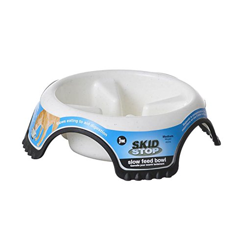 Slow Feed Bowl for Dogs All Ages Non Skid Dishwasher Safe Bacteria Resistant (Medium)