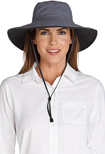 Coolibar UPF 50+ Women's Shapeable Sun Catcher Hat - Sun Protective,One Size,Carbon/Black - Circumference Catchers