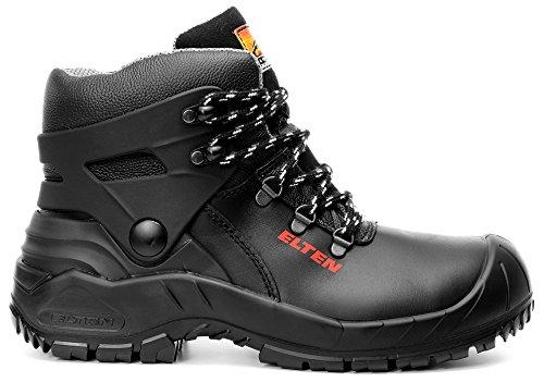 ELTEN Renzo Biomex ESD S3 Herren Sicherheitsschuhe, Arbeitsschuhe, Sicherheitsschnürstiefel, Zertifiziert Nach En ISO 20345 : S3, Stahlkappe Schwarz