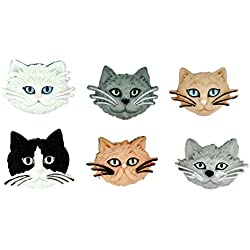 Jesse James (2-Pack) Dress It Up Buttons Cat Collection #5800 Fuzzy Felines 5800-2P
