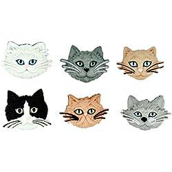 Jesse James (2-Pack) Dress It Up Buttons Cat Collection #5800 Fuzzy Felines 5800-2P