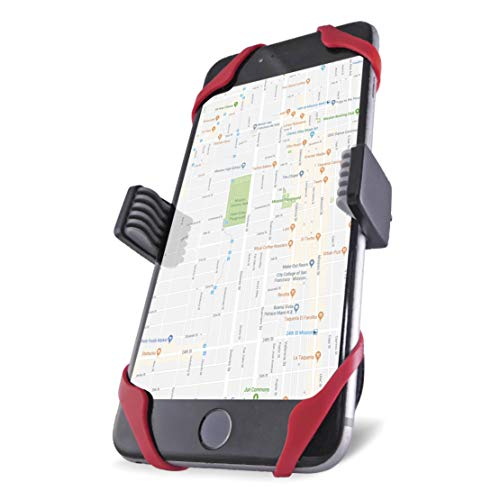 Vibrelli Universal Bike Phone Mount - Fits iPhone X, 8, 8 Plus, 7, 7 Plus, 6, 6 Plus and Android Devices (Best Iphone 6 Mount For Bike)