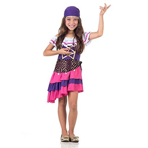 Fantasia Cigana Infantil 33124-P Sulamericana Fantasias P 3/4 Anos