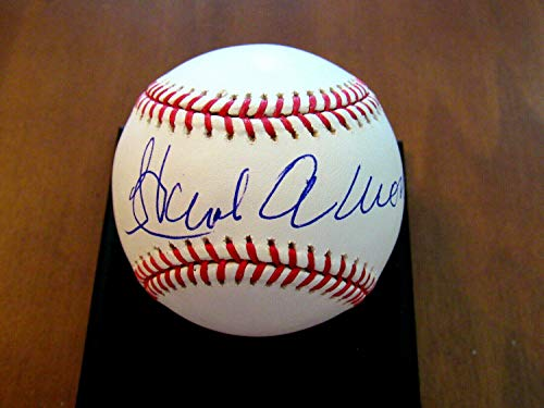 - Hank Aaron Hrk Braves Brewers HOF Autographed Signed Auto Oml Baseball Mounted Memories Gem - Certified Signature