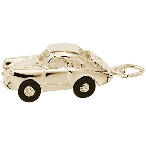 Gold Plated Sport Car Charm, Charms for Bracelets and Necklaces