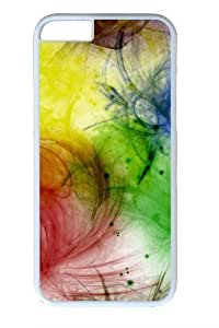 Color Blots Polycarbonate Hard Case Cover For SamSung Galaxy S6 White