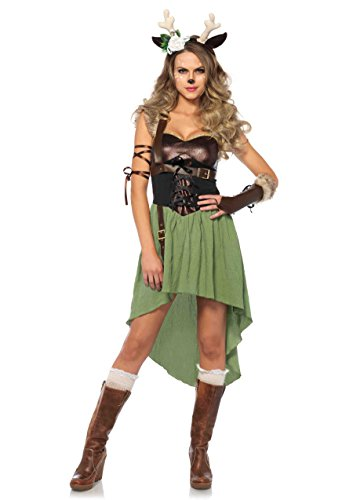 Dark Forest Fawn Womens 4 Piece Costume (Large)