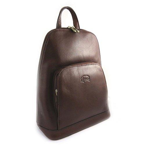 sac neuf Marron dos fermeture sac en porté à ville femme dos sac éclaire à épaule porté cuir qaxIwrZqWC