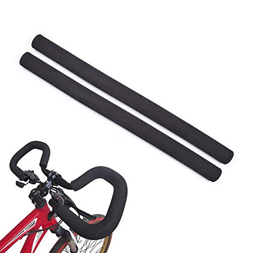 Vivian Bicycle Handlebar Grips Cover Racing Bike Sponge Foam Rubber Tube Flexible Cuttable Handlebar Cover Foam Grips,Pack of 2 Piece,Inner Diameter 21mm/0.83inch (Foam Grips)