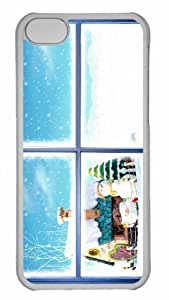 Customized iphone 5C PC Transparent Case - Winter Holidays Personalized Cover