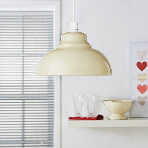 Oslo metálico colgante lámpara de techo Easy Fit - Crema ...