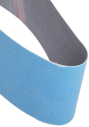Norton 49611 High Performance Portable Sanding Belt, Zirconia Alumina, 21-Inch  Length x 3-Inch  Width, Grit 80 Medium, 2-Pack