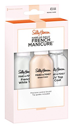 Sally Hansen Hard As Nails French Manicure Nearly Nude Kit (Best French Manicure Set)