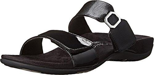 Vionic Camila Womens Slip-on Sandals Black Patent - 5