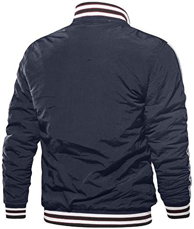 Geili męska kurtka bomberka, kurtka lotnicza ze stÓjką, płaszcz Basic Hip Hop Urban kurtka baseballowa, na jesień, zimę, zamek błyskawiczny, przejściowa kurtka sportowa, duże rozmi