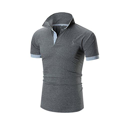 ポロシャツ メンズ 半袖 カジュアルシンプル 無地 スキニー お洒落なポロシャツ スポーツウェア ゴルフウェア ファッション カッコイイ 快適 吸汗グラストア