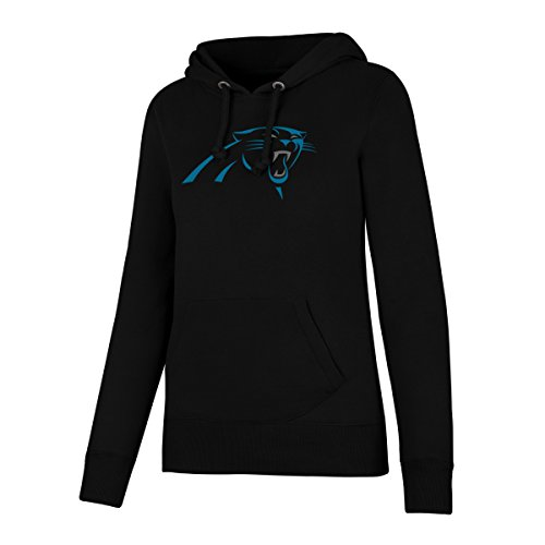 NFL Carolina Pantshers Women's Ots Fleece Hoodie, Large, Jet - Sweatshirt Panthers Carolina