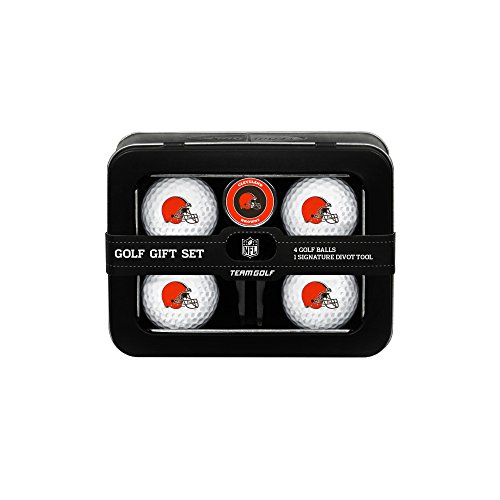 NFL Cleveland Browns 4 Golf Ball And Divot Tool Set Cleveland Browns Ball Marker