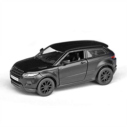 Tianmei 1:32 Scale SUV Styling Alloy Die-Cast Car Model Collection Decoration Ornaments, Kids Play Vehicle Toys with Pull Back Action and Open Doors (Evoque - Black)