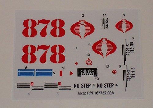 Gi Joe Decals (GI Joe Cobra Night Landing Sticker Sheet)