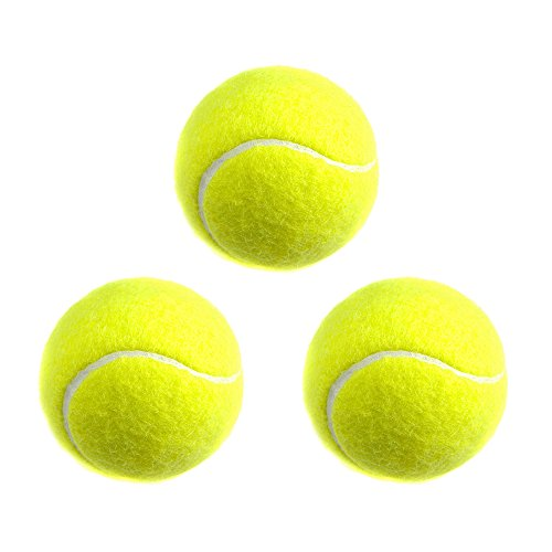 SONCOT 3 Pack Tennis Ball, Sport Tennis Training Ball Practice Exercise Ball for - Natural Tennis