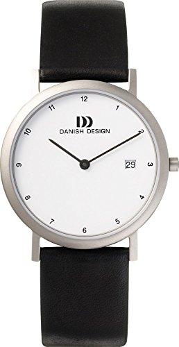 Danish Design IQ12Q881 Titanium Case White Dial Leather Band Men
