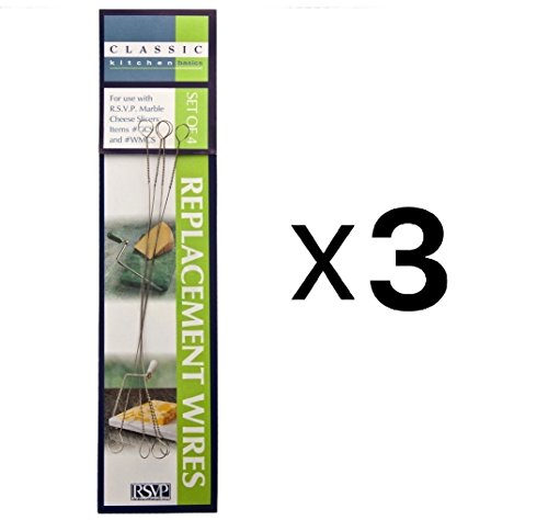 RSVP 4 Cheese Slicer Replacement 5.5' Wires Marble Wood Cutters 5.5' (3-Pack)