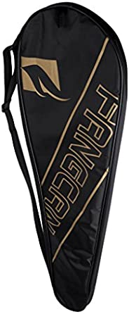 Full-Covered Badminton Racquet Cover Racquetball Equiment Cover Holder Bags - Black, 69x22 cm