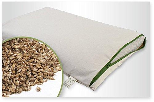 100/% Bio Vannure d/Épeautre avec Amovible Lavable 100/% Coton Bio de Coutil mudis Naturkissen/&mehr Oreiller Garni d/épeautre 40/x 60/cm