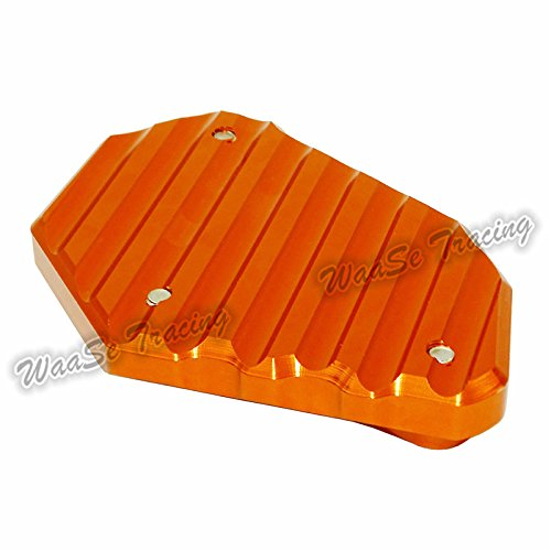 waase Motorcycle Kickstand Foot Side Stand Extension Pad Support Plate For KTM 1050 1090 1190 1290 Adventure (Orange) by waase (Image #5)