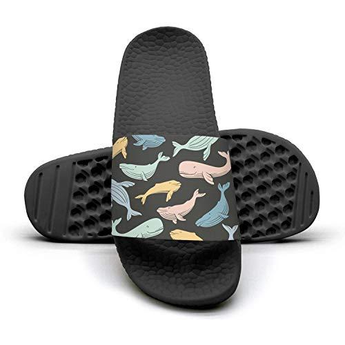 - Black Whale Shark Animal Slippers Sandals Slippers for Men