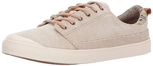 Corduroy Sneaker - Reef Women's Girls Walled Low TX Fashion Sneaker, Khaki, 7.5 M US