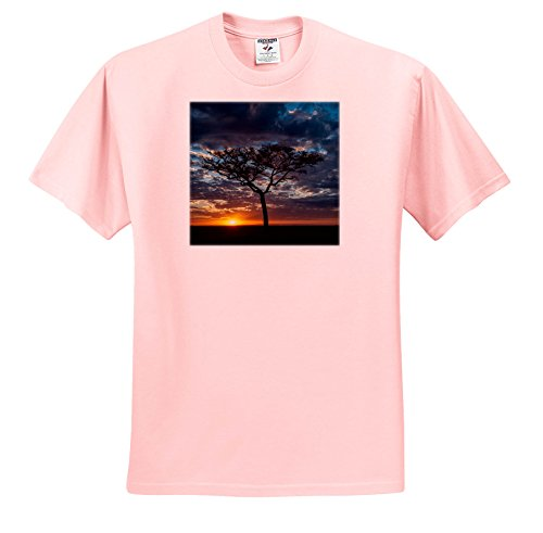 3dRose Danita Delimont - sunrises - Africa, Kenya, Masai Mara Sunrise - T-Shirts - Light Pink Infant Lap-Shoulder Tee (6M) (TS_276468_70) by 3dRose