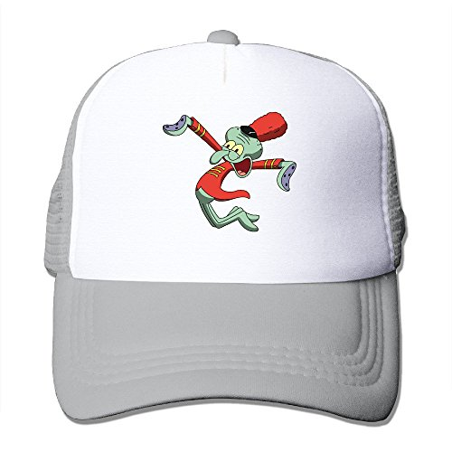 Cool Sponge Bob Squarepants Squidward Tentacles Trucker Mesh Baseball Cap Hat Ash