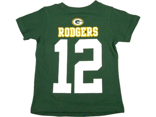 Aaron Rodgers Green Bay Packers Jersey Name And Number T-shirt Small 8