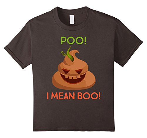 Kids Halloween Poo! I Mean Boo! Funny Costume Novelty Shirt 4 (Mean Girls Halloween Costume Ideas)
