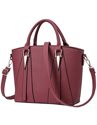 Leather Bleu Sac Bandoulière À Womens Menschwear Ladies Pu Grand Rosé Purse qExfzwCU