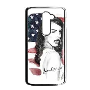DIY American Famous Singer Lana Del Rey Custom Case Shell Cover for LG G2