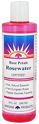 Heritage Products Rose Water, 8 Ounce - 6 per case. - Heritage Products Rose