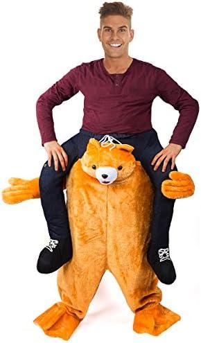 JiuYue Halloween Carry Mascot Me Ride On Beer Guy Oktoberfest Costume Ride on Costume Brown