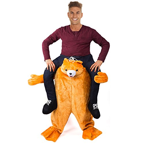 Tigerdoe Piggyback Costume - Bear Ride On Costume - Carry me Costume - Riding Shoulder Costume ()
