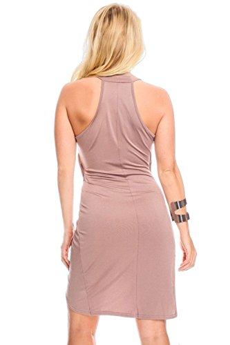 Pinkyee - Vestido - para mujer caqui