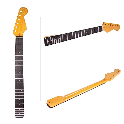 21 Fret Maple Rosewood Guitar Neck Replacement Vintage Tint Finish For Strat Fragrant In Flavor