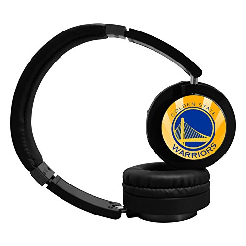GoldenStateWarriors Wireless Bluetooth Headphone Surround Sound Gaming Headset for PC Playstation 4 On Cable Controls Sports Performance Pads Rotating Ear Cups Light Weight Design for Teens and (Steve Kerr Halloween)