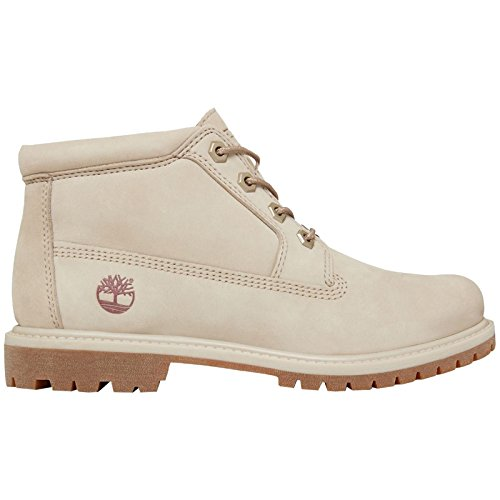 Timberland Women's Nellie Chukka A1NDR Nubuck Ankle Boot Pure Cashmere-Grey-6
