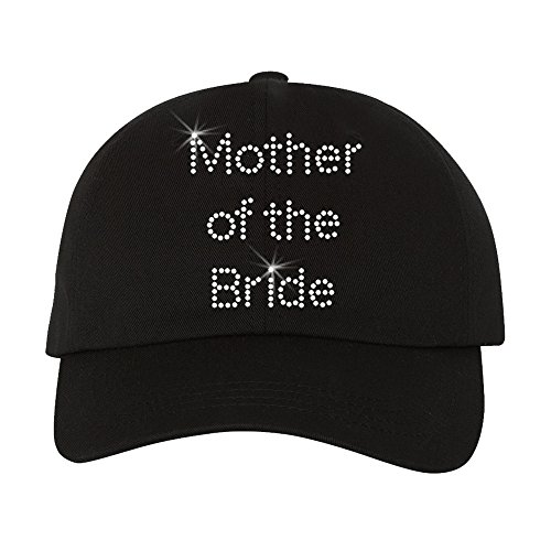 Mother of The Bride Baseball Cap with Crystal Rhinestones - Rhinestone Cap Bride