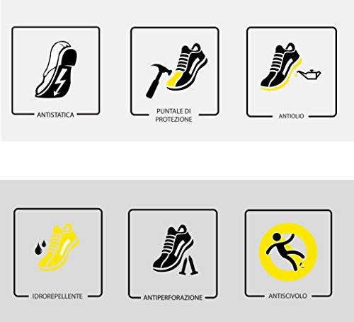 Zapatos De Negro Rs 46 Piel Postal De S3 Seguridad Src Tamaño 20345 Vaca Reptiles Iso Cuero pZpnwArq
