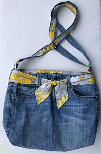 Upcycled Chip & Pepper Jeans Crossbody Bag, Adjustable Strap, Interior Pockets, Eco Friendly